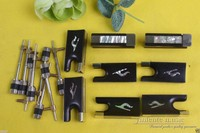 #Y79 New violin bow parts,10 set ebony violin bow frog good inlay Top grade
