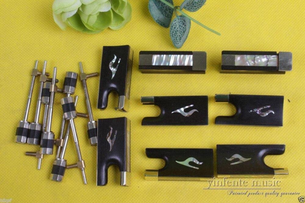 #Y79 New violin bow parts,10 set ebony violin bow frog good inlay Top grade
