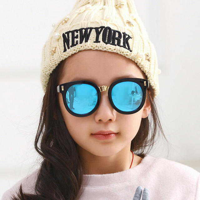 5da83a07e0b Victorylip Round Kid Sunglasses Children Boys Girls Cute Mirror Baby Circle  Sun Glasses Flowers Frame UV400 Mirror Eyewear