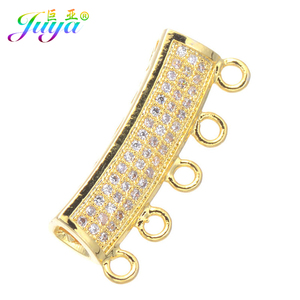 DIY Beadwork Jewelry Material Gold Charm Spacer Beads Cruved Tube Beads Accessories For Pearls Necklace Jewelry Making