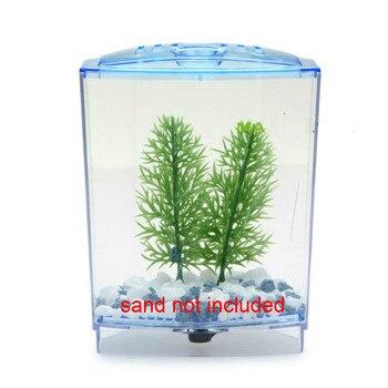 2 Size Acrylic Mini Aquarium Betta Fish Tank Aquarium Incubator Isolation Hatchery Mini Fish Bowl Reptile Cage Turtle House 1