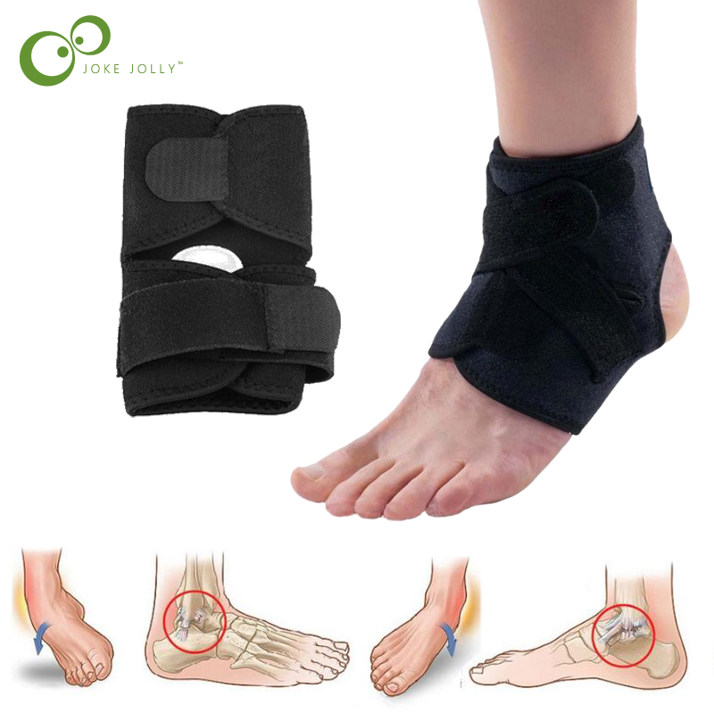 1pcs Sport Football Breathable Ankle Brace Protector Adjustable Ankle Support Pad Protection Elastic Brace Guard Support GYH ...