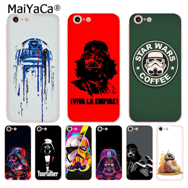 promo code 40856 76b38 US $1.22 49% OFF|MaiYaCa R2D2 BB8 Star Wars Coffee Stormtrooper Darth Vader  Fashion Phone Case for iPhone 8 7 6 6S Plus X 10 5 5S SE XS XR XS MAX-in ...