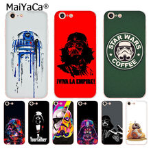 MaiYaCa R2D2 BB8 Darth Vader de Star Wars Stormtrooper Café Caixa Do Telefone Da Forma para o iphone 8 7 6 6S Plus X 10 5 5S SE XS XR XS MAX(China)