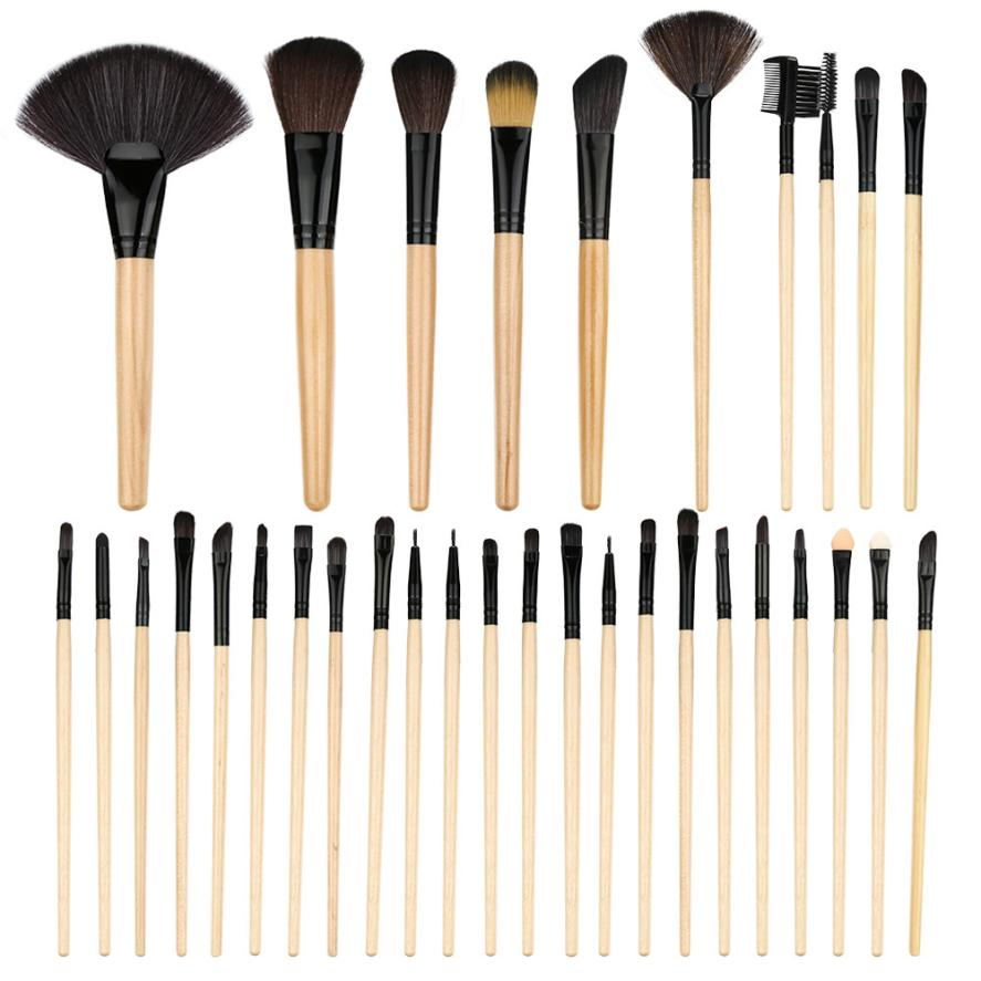 2017 New 32 pcs Makeup Brush Set tools Make-up Toiletry Kit Wool Make Up Brush Set Women's Fashion drop shipping nov2 тонер картридж cactus cs tk330