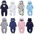 Осенне-зимняя одежда для новорожденных; Флисовый комбинезон для мальчиков; Комбинезон с капюшоном; Комбинезон с медведем; Зимняя одежда для...