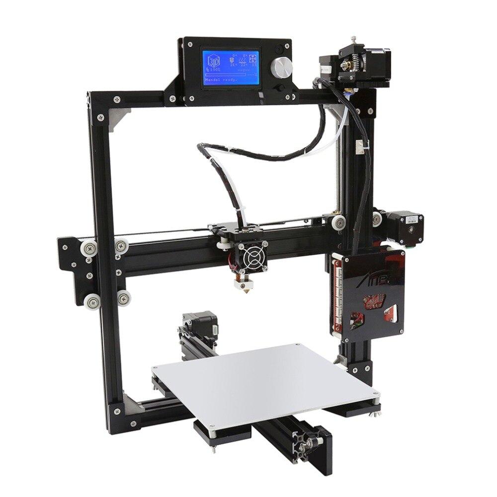 Kit imprimante 3D Anet X23D i3 A2/lecteur de carte mémoire numérique sécurisé/filaments USB 2.0 & 2 rouleaux ABS et PLA