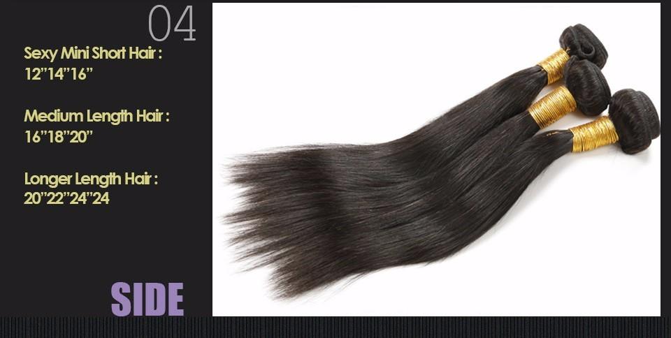 Peruvian virgin Hair Straight Cheap Hair Bundles 3 Bundles 100% Unprocessed Human Hair Bundles Weave Straight Peruvian Straight Virgin Hair (3)