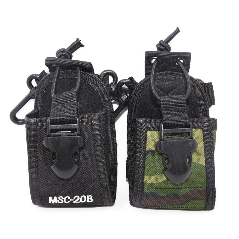 2 Pack Black Radio Case Belt Holster 2-Way Police Walkie Talkie For Baofeng ICOM