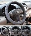 Tampa Da Roda de Direcção do carro Antiderrapante-motivo Auto Camry A4 A6 X3 X5 S300 K5 Volante Escudo X1