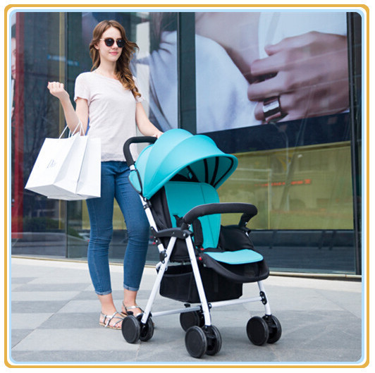 Deluxe High Vision Baby Trolley with Rain Cover Mosquito Net Excellent Quality Baby Buggy Pram and Baby Rocking Pushchair