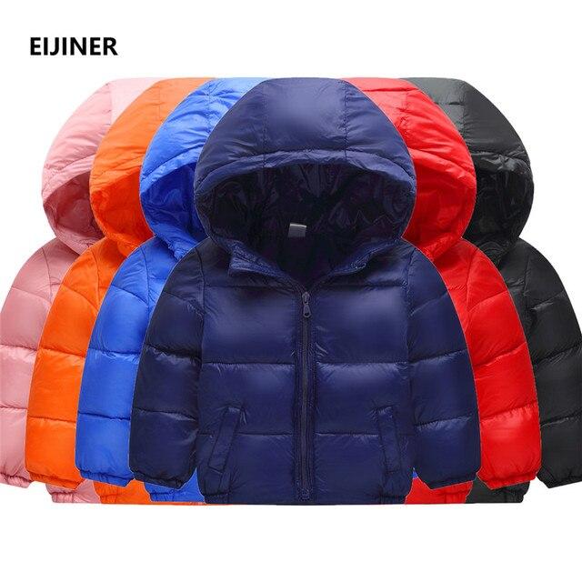 Big Promo Children Jacket Outerwear 2018 New Cotton Boy and Girl Winter Warm Parka Hooded Coat Boys Parka Kids Coats Winter Girls Jacket