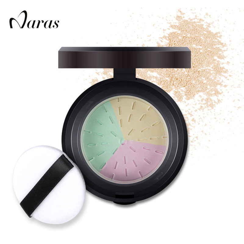 Naras Brand loose powder Makeup Bare Mineral Face Powder Skin Finish studio fix LongLasting loose powder with puff & mirrorNAE03