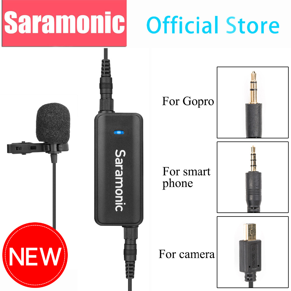 buy saramonic lavmic 2 channel audio mixer with lavalier microphone kit for. Black Bedroom Furniture Sets. Home Design Ideas