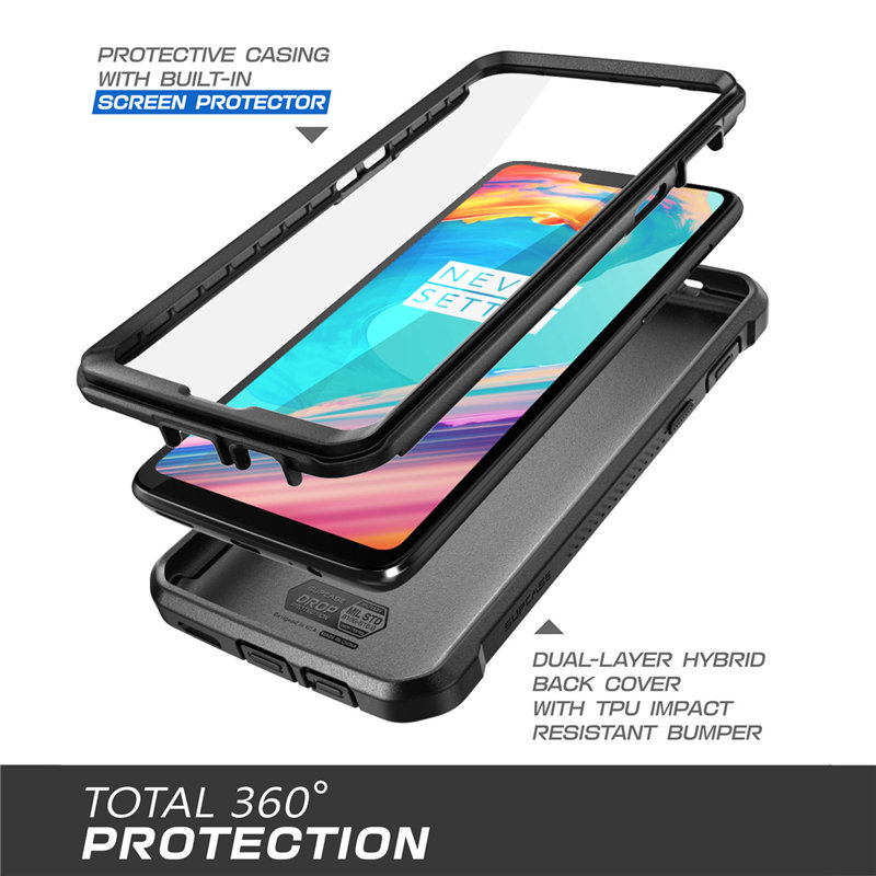 Image 2 - SUPCASE Case For OnePlus 6 UB Pro Full Body Rugged Holster Protective Cover with Built in Screen Protector For One Plus 6 CaseFitted Cases   -