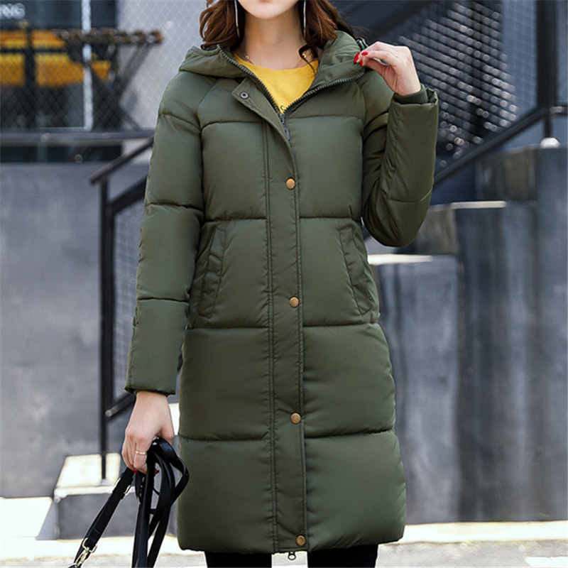 2017 Women Winter Parkas Female Warm Thicken Middle-Long Loose Hooded Jacket Coat Cotton Padded Parkas Outwear Plus Size M-3XL 2017 new female warm winter jacket women coat thick down cotton parkas cotton padded long jacket outwear plus size m 3xl cm1394