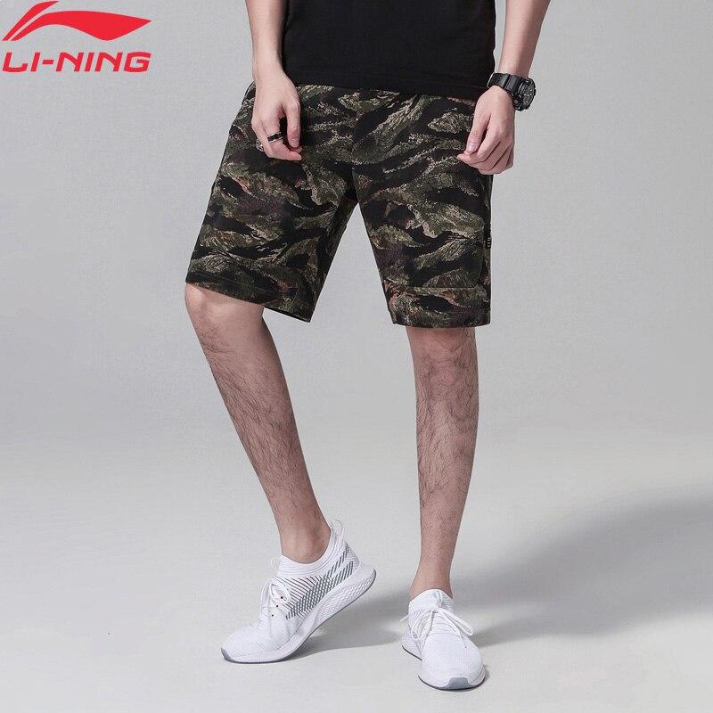 (Break Code) li-ning mężczyźni złe pięć szorty do koszykówki 87% bawełna 13% poliester regularny krój podszewka Li Ning szorty AKSN127 MKD1532
