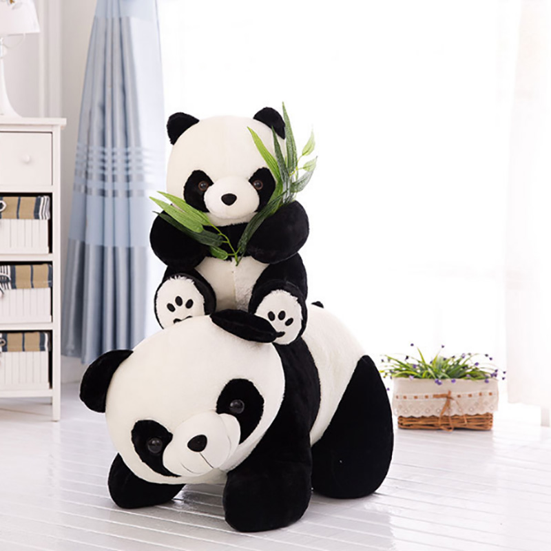 Cute Panda With Bamboo Plush Toys Creative Dolls & Stuffed Toys Plush Small Size Animal Toys Children Baby Gifts