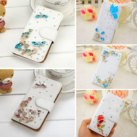 Luxury 9 Style For HTC Desire 626 Dual Sim Bling Bling Rhinestone PU Leather Mobile Phone