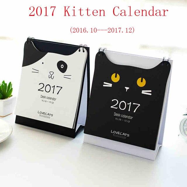 gatito lindo de la historieta gato tabla calendarios agenda de agenda para hacer lista diaria calendario de escritorio para la