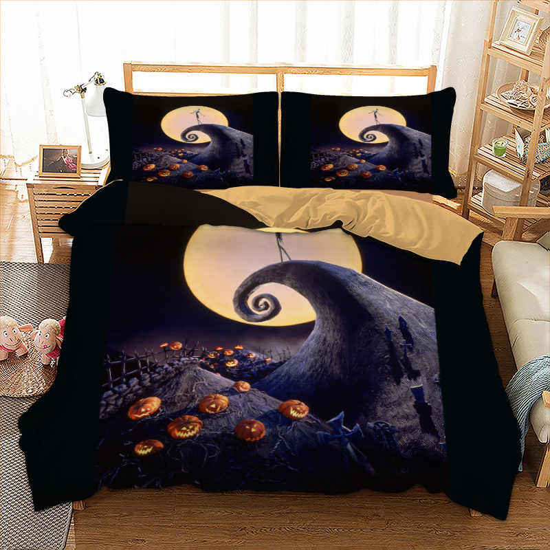 Jack o lanterns halloween bed linen set quilts and Bedding Set Queen King Twin Full AU