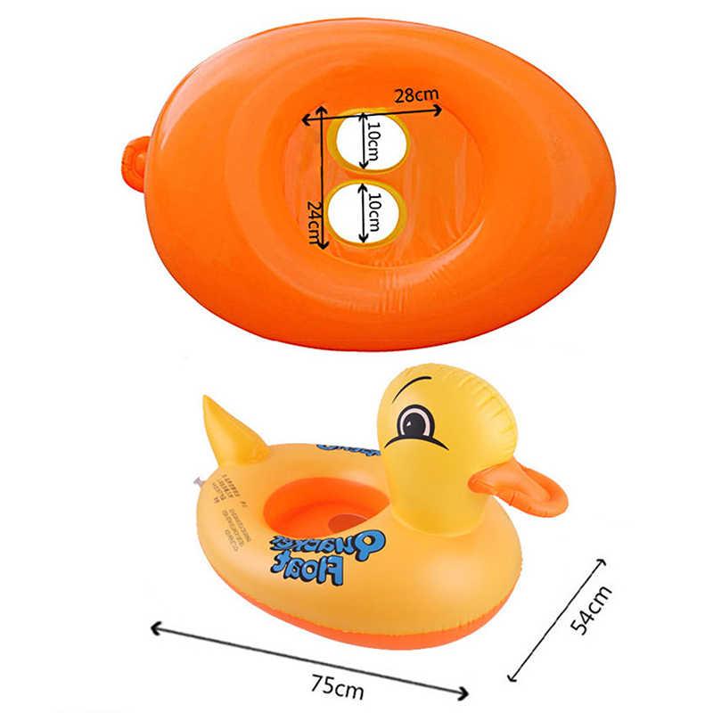 Żółta kaczka Float dzieci nadmuchiwane dziecko maluch pływanie wieloryb pływać siedzenia basen ryby pierścień