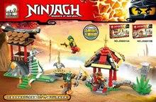 Elephant Phantom Ninja series of small empty village temple art assembly  Building Blocks Bricks For Children Gift Kids Toys