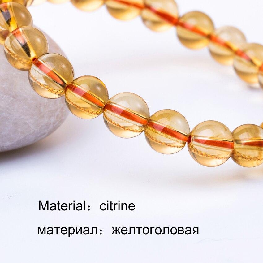 HTB100THX.o09KJjSZFDq6z9npXaj 6-10mm Bright Citrine Bracelet Citrine Beads Natural Stone Bracelet Buddha Charms men's bracelets Bangles Jewelry Gift For Men