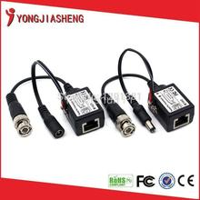 high quality bnc connector to rj45 power video balun for cctv camera