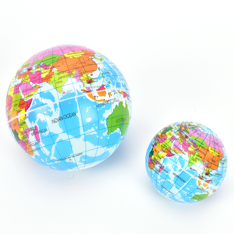 US $0.68 |1Pc Fashion Funny Soft Earth World Map Globe Foam Stress Relief  Bouncy Ball Geography Map Teaching Hand Squeeze Ball-in Party Direction ...