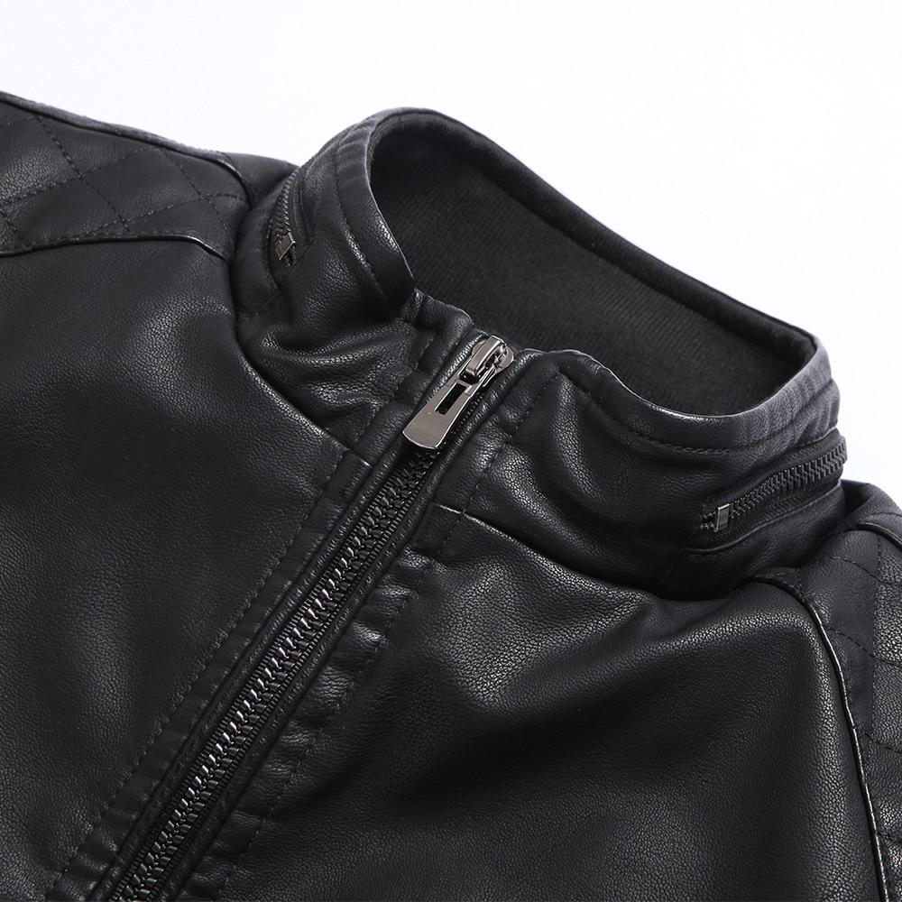 jaqueta de couro masculina heren leren jas bontjas van middelbare - Herenkleding - Foto 4