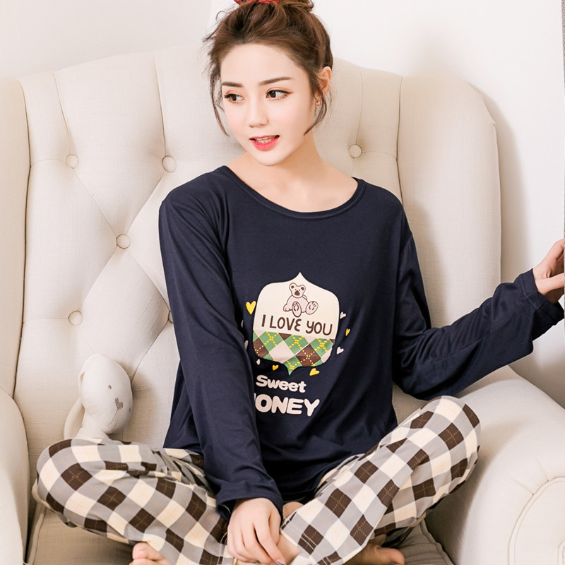 New Arrival WAVMIT 2017 Spring Pyjamas Women Carton Cute Pijama Pattern   Pajamas     Set   Thin Pijama Mujer Sleepwear   pajama   Wholesale