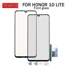 Dla Huawei HONOR 10 LITE szkło przednie obiektyw 100% nowy przedni ekran dotykowy szklany obiektyw zewnętrzny dla HONOR 10 LITE + narzędzia