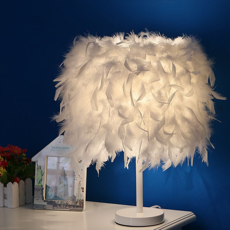 Lights & Lighting Lyfs Bedside Reading Room Sitting Room Heart Shape Feather Crystal Table Lamp Light With Eu Plug Us Uk Au Plug Small Size Soft And Antislippery Led Lamps