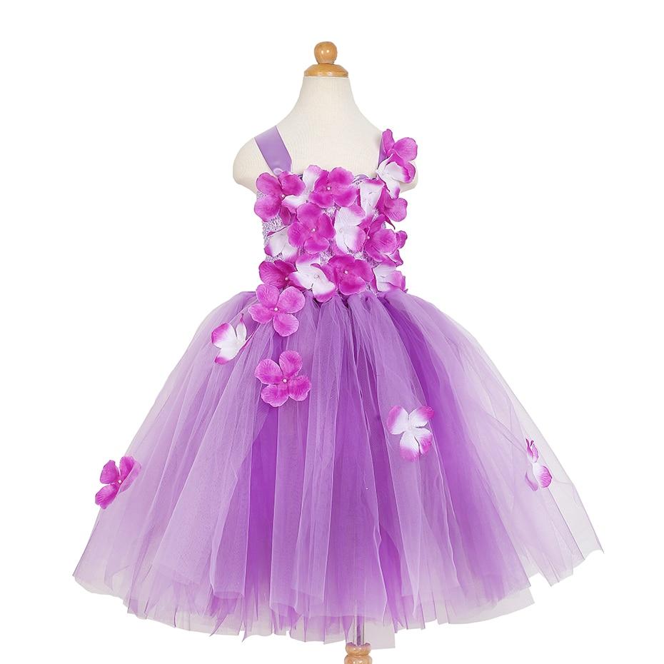 2018 New European And American Flowers Girls Wedding Dress