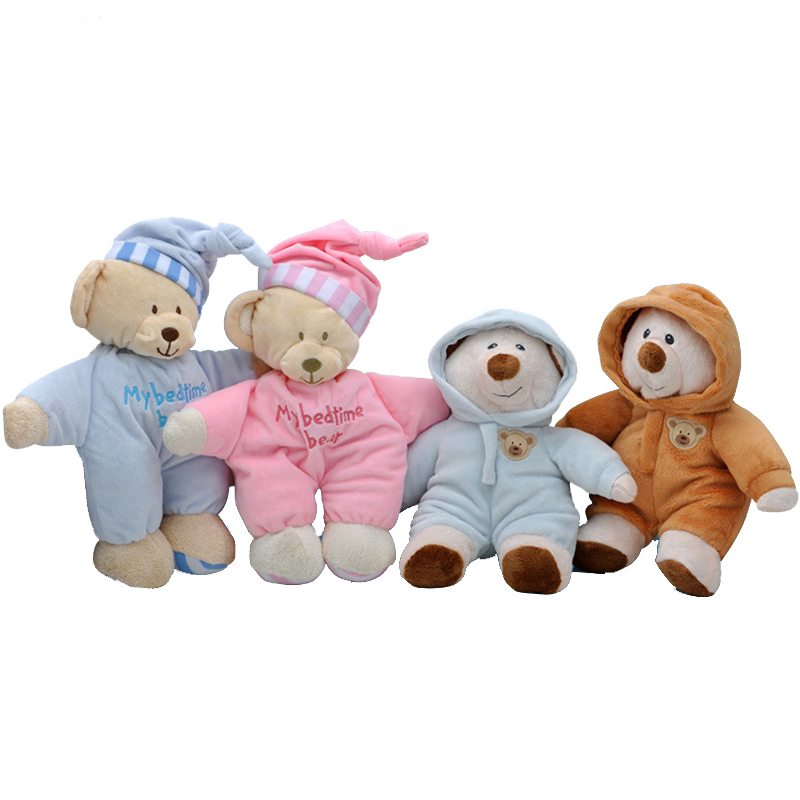 Kids Toys Baby Rattle Cute Rabbit Animal Bear Baby Plush Bear Toy Soft Gift For Baby  Boy Girl Bear Appease Toys For Newborns