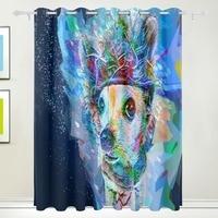 Blackout Fantasty Curtain Children Room Girl Drapes Cartoon Color Boy Window Panels Dog Curtain Baby Curtains
