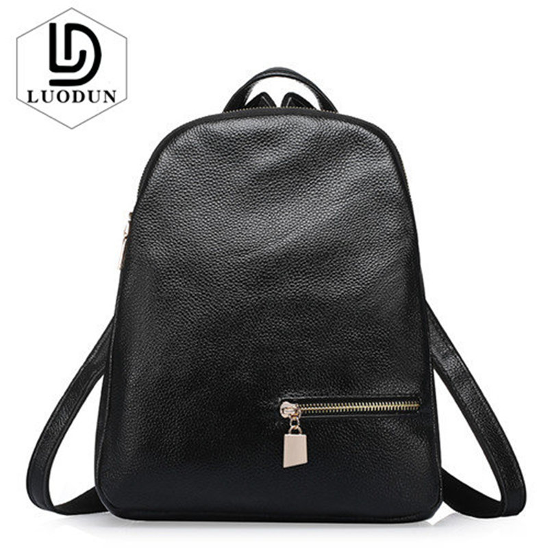 LUODUN summer Genuine leather backpack fashion first layer of cowhide backpack bag travel bag Women Large Capacity Bags Mochila high quality cute real first layer cowhide large capacity women backpack real genuine leather travel bags school bag