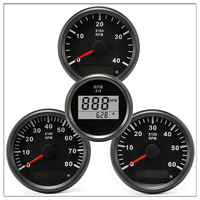 Tachometer for Boat motor 52/85mm Mini Round LCD Digital red light 0 9990 RPM engine Truck Gauge 12 V 24 V Lap timer Hour meter