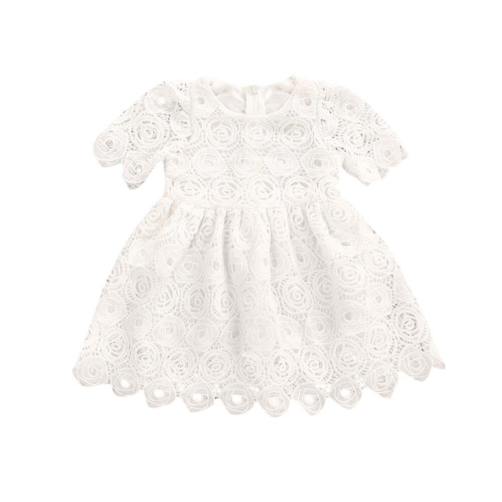kids Girl Dresses Summer 2017 Toddler Infant Baby Girl Floral Lace Short Sleeve Princess mini Dresses Outfits Vestido Infantil