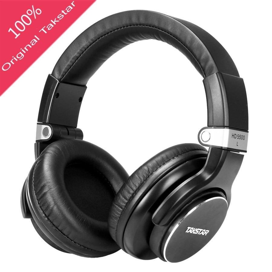Takstar HD5500 Monitor Studio Headphones Dynamic 1000mW Powerful HD Over headphone Noise Cancelling Pro DJ Headset auriculars dj headset takstar t