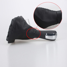 цена на Fit For 5 Speed Skoda Octavia 2 MK2 2004 2005 2006 2007 2008 2009 2010 Car Gear Shift Knob with Black Leather Boot Cap