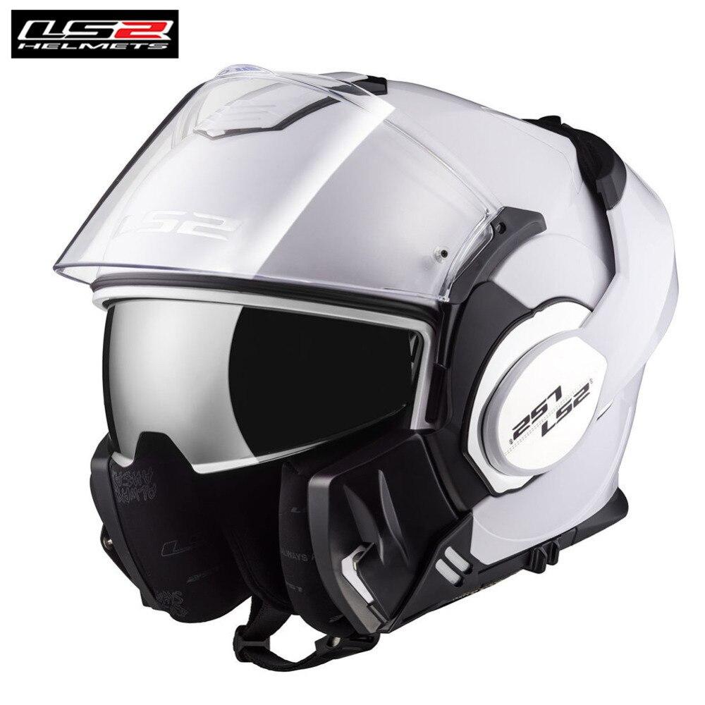 LS2 FF399 Modulaire Flip Up Casque de Moto Intégral Casque Capacete Casco Moto Casques Ouverts Kask Helm Touring Motocyklowy