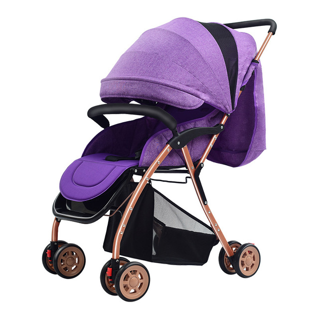 Light Baby Stroller 175 Degree Lying Reversable Push Handle Folding Portable Travel Car Airplane Baby Carriage Pram Buggy 0~36M 1