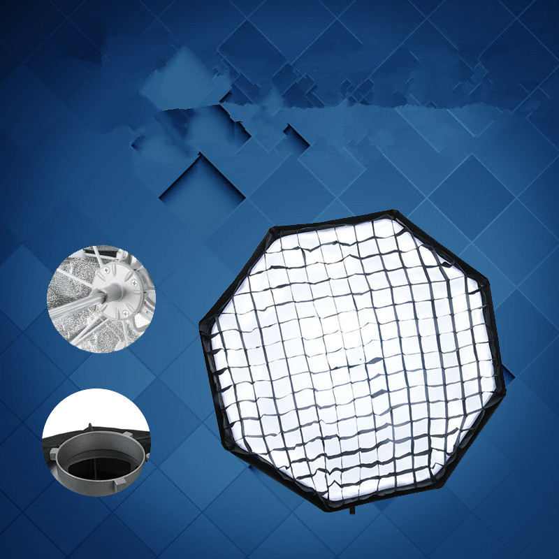 95cm octagonal Bao Rong Kou umbrella type soft light box opens quickly, folding fast and fast light shade CD50 цена
