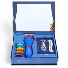 Educational Projector Torch Toys 32 Slides & 4 Fairy Tales Story Book Set - Baby mini Theater Developmental Games(China)