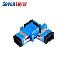 SC SC flanş Fiber bağlayıcı APC Fiber optik adaptör UPC optik Simplex modu SC SC Fiber flanş PC konektörü ftth