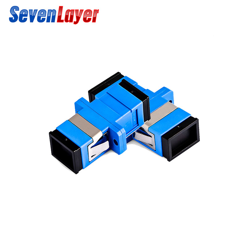 SC-SC Flange Fiber Coupler APC Fiber Optic Adapter UPC Optical Simplex Mode  SC-SC Fiber Flange PC Connector Ftth
