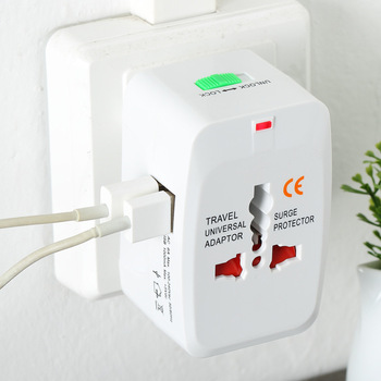 All in One Universal International Adapter 2 USB Port Plug