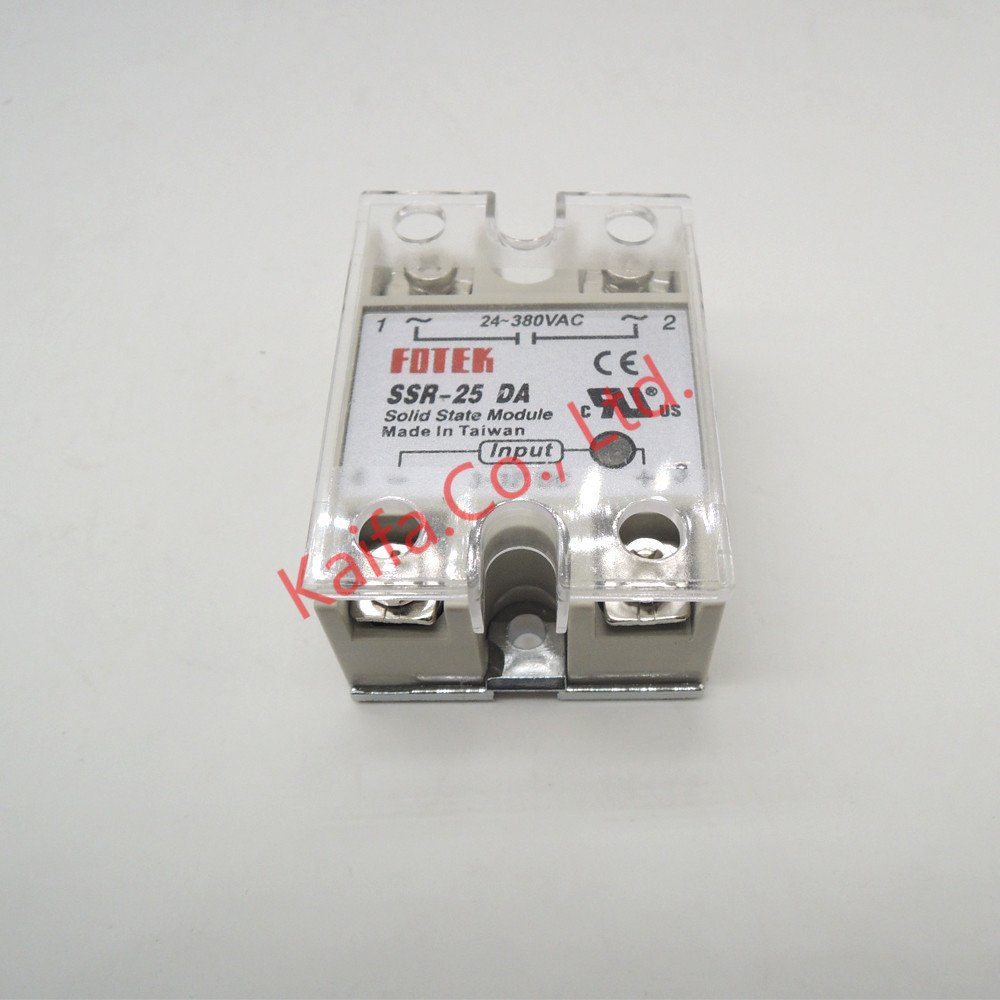 1pcs Solid State Relay Ssr 25da 25a Actually 5 24v Dc To 24 380v Taiwan Ac Protective Cover